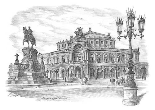Panoramabild Semperoper A4